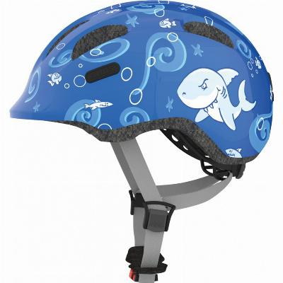 Fietshelm Abus Smiley 2.0 Blue Sharky - medium 50-55cm
