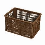 Fietskrat Basil Crate large 50 liter - Saddle Brown