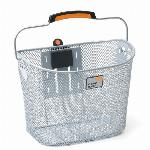 Fietsmand New Looxs Toscane Turnlock staal - 19 ltr. - zilver